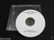 MEAT LOAF 'IN SEARCH OF PARADISE' 2007 ADVANCE DVD
