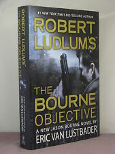 1st,signed by author, Robert Ludlum's The Bourne Objective by Eric Van Lustbader