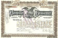 Pennsylvania 1900, Danville Bessemer Company Stock Certificate