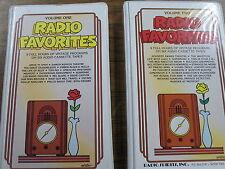 RADIO FAVORITES Volume 1 & 2 Vintage Radio Serial Programs Audio Cassette Tapes