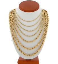 Mens Rope Chain Necklace 2.5mm to 7mm 18