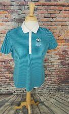 Nike Golf Performance Dri Fit Blue Stripe Provo Golf Club Athletic Polo Shirt Xl