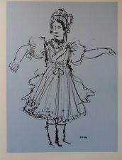 Jean EVEN - Jolie Hongroise  - gravure signée #322ex + justificatif