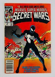 SECRET WARS #8 Newsstand First Black Costume Spider-Man Appearance 1st App Key