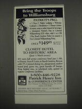 1991 Best Western Patrick Henry Inn & Conference Center Ad - Williamsburg, VA