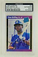 Ken Griffey Jr HOF 1989 Donruss #33 ROOKIE RC Signed Autographed Card PSA