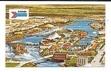*1974 Spokane Washington Exposition Pc Artist Concept Aerial View Of Fair