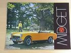MG Midget 1969 / 1970 full colour sales brochure technical specifications