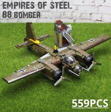 559pcs Military Ju-88 Plane Toys Bricks Building Blocks Toys for Children DIY