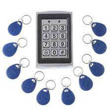 RFID Reader & Keypad Door Access Control Waterproof IP43 Metal Case+10pcs Keyfob