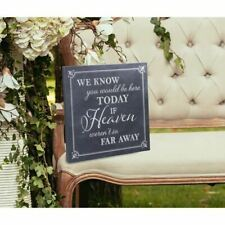 Lillian Rose 30cm Black and Whitehere Today Canvas Wedding Sign
