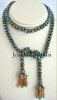 925 Sterling Silver Turquoise Sleeping Beauty Gemstone Gold Handmade Necklace