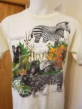 Vtg 80s San Diego Zoo Animals t shirt M/L