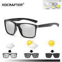 Men Polarized Photochromic Sunglasses Outdoor Driving Transition Lens Glasses
