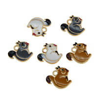 12pcs Jewelry Making Alloy Enamel Assorted Squirrel Pendants Charms Crafts 53598