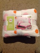 New Circo Pink Flower Dot Collection.  Twin. 2 Piece Quilt Collection.