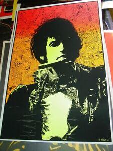 BOB DYLAN 1968 68 VINTAGE BLACKLIGHT ROCK NOS POSTER By JOE ROBERTS JR -NICE!