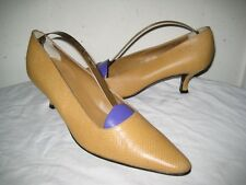 WALTER STEIGER Leather Pumps Shoes Women's Size 8 B Hand  Made In ITALY.