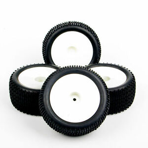 4pcs 1:10 Buggy Off-Road Front & Rear Tires & Wheel For HSP HPI RC Car 12mm Hex