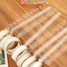 5 Rolls Transparent lace Tape Adhesive Label Scrapbooking Sticker Paper Washi