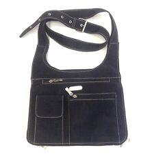 Baggallini Black Crossbody Bag Purse Handbag Nylon Organizer Multi Pockets