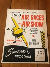 1960 NATIONAL CHAMPIONSHIP AIR RACES AND SHOW PROGRAM