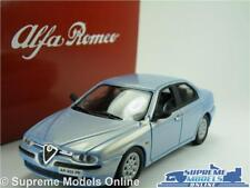 ALFA ROMEO 156 MODEL CAR 1:43 SCALE SOLIDO + TIN DEALER SPECIAL BLUE SALOON K8