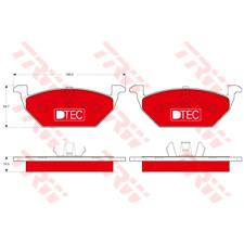 Bremsbelagsatz Scheibenbremse DTEC COTEC - TRW GDB1984DTE