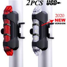 Luce Ricaricabile USB Posteriore 5 LED Luci Impermeabile per Bici Bicicletta IT