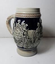 Vintage THEWALT Short Beer Stein Blue #1197 Western Germany
