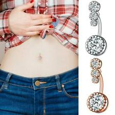 Navel Rings Belly Piercing 14G 4 Crystal Czs Belly Button Rings