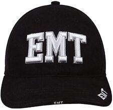 BLACK EMT Hat Deluxe Low Profile Adjustable Cap 9381