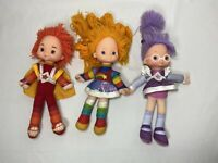 Vintage ~ Rainbow Brite LOT OF DOLLS ~ Red Butler Shy Violet RainbowBrite Plush