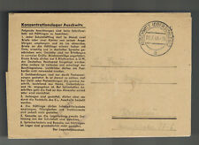 1944 Germany Auschwitz KZ Concentration Budy Sub Camp Letter Cover to Warsaw