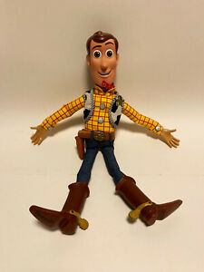 """Talking Woody Toy Story Pull-String 16"""" Doll from Disney Store Of London WORKS"""