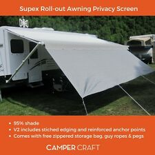 Supex Caravan Roll Out Awning Privacy Screen to suite 10ft Awning (2.8 x 1.8m)