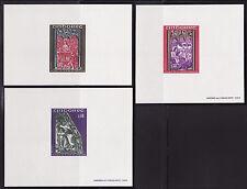 épreuve de luxe  Andorre  série 3 tableaux rétables  de  1970