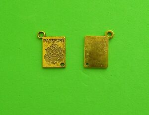 20x Passport Travel Holiday Vacation Antique Gold Charms Pendant