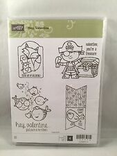 HEY, VALENTINE Stamp Stampin Up New Bag Topper Pirate Fish School US Only