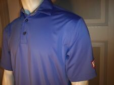 Titleist Patch Footjoy Tour Issue Medium Violet Poly/Spandex Golf Shirt
