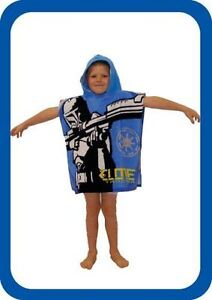 Childrens Star Clone Wars Trooper Hooded Towel Poncho