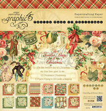 Graphic 45 Twelve Days of Christmas 8x8 Double-Sided Cardstock Paper Pad