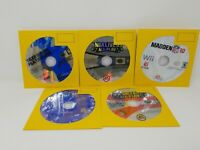 Nintendo Wii 5 Game Lot Disc Only Madden 10, NBA Live 09, Tiger woods 08 FIFA