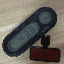 Car Auto Digital LED Electronic Time Clock Thermometer With Backlight AU