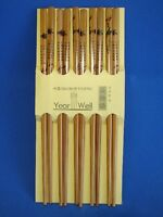 5 Sets of Chinese Wooden Chopsticks