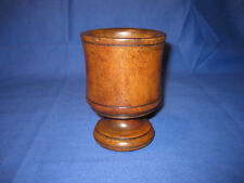 Antique 19th Century Victorian Wooden Turned Herb Mortar