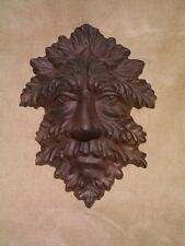Leaf Man Plaque Celtic Mask cast iron Jack In The Green nature garden face