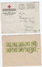 Germany inflation RARE cover DECEMBER !!! 1923 Coln Red Cross RHEINLANDBESETSUNG