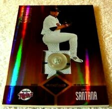 JOHAN SANTANA 2004 LEAF LIMITED THREADS JERSEY BUTTON PATCH #67 SER #6/6 TWINS