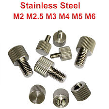 M2 M3 M4 M5 M6 Precision Knurled Thumb Screw/Nut Stainless Steel Round Head Bolt